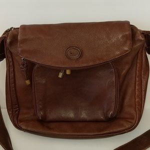 Rossi Florence Italy Brown Leather Handbag Purse